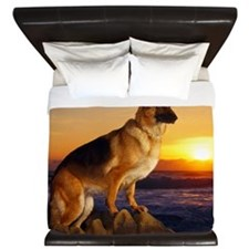 Beautiful German Shepherd King Duvet