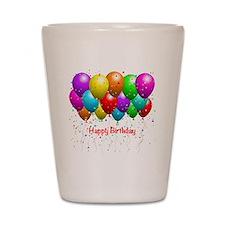 Happy Birthday Balloons Shot Glass