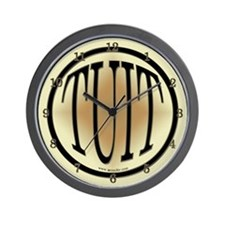 Black & Gold Round TUIT Wall Clock