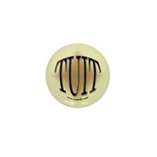 Black & Gold Round TUIT Mini Button (10 pack)
