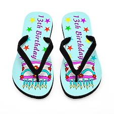 ADORABLE 13TH Flip Flops