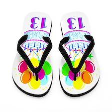 HAPPY 13TH Flip Flops