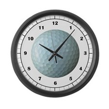 Golf Ball Large Wall Clock