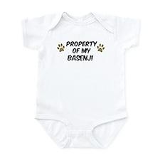 Basenji: Property of Infant Bodysuit