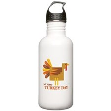 First Turkey Day Water Bottle