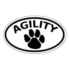 Dog Agility Paw Oval Decal