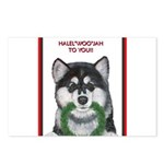 Malamute and sled team Postcards (Package of 8)