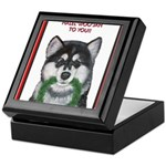 Malamute and sled team Keepsake Box