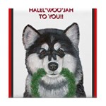 Malamute and sled team Tile Coaster