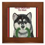 Malamute and sled team Framed Tile
