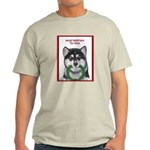 Malamute and sled team Ash Grey T-Shirt