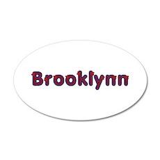 Brooklynn Red Caps 35x21 Oval Wall Decal