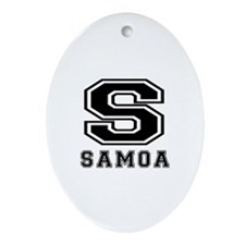 Samoa Designs Ornament (Oval)