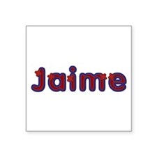 Jaime Red Caps Square Sticker