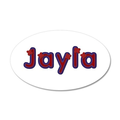 Jayla Red Caps 35x21 Oval Wall Decal