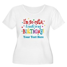 So Cute Birthday Personalized T-Shirt
