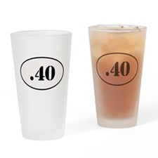 .40 Oval Design Drinking Glass