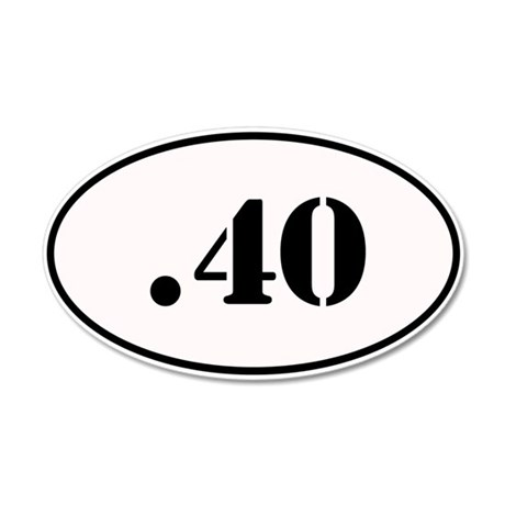.40 Oval Design 35x21 Oval Wall Decal