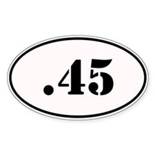 .45 Oval Design Decal