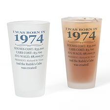Birthday Facts-1974 Drinking Glass