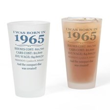 Birthday Facts-1965 Drinking Glass