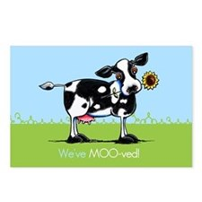 Weve Moved Moo Cow Postcards (Package of 8)