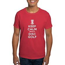 KEEP CALM DISC GOLF white T-Shirt