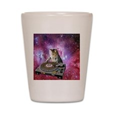 DJ Space Cat Shot Glass