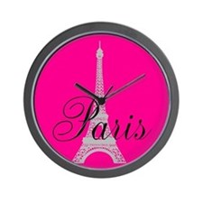 Paris in the Pink Wall Clock