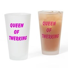 Queen Of Twerking Drinking Glass