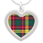 Tartan - Buchanan Silver Heart Necklace