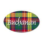 Tartan - Buchanan 20x12 Oval Wall Decal