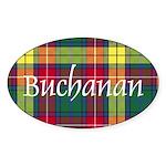 Tartan - Buchanan Sticker (Oval)