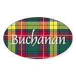 Tartan - Buchanan Sticker (Oval 50 pk)