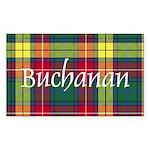 Tartan - Buchanan Sticker (Rectangle)