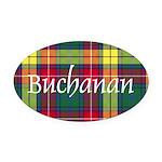 Tartan - Buchanan Oval Car Magnet