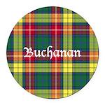 Tartan - Buchanan Round Car Magnet