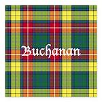 Tartan - Buchanan Square Car Magnet 3