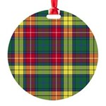 Tartan - Buchanan Round Ornament