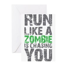 Rul Like A Zombie Is Chasing You Greeting Cards