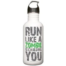 Rul Like A Zombie Is Chasing You Water Bottle