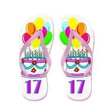 HAPPY 17TH Flip Flops
