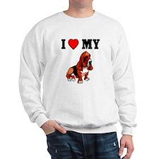 I (Heart) My Bassett, Sweatshirt