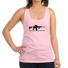 AR-15 - Life Can Be Complicated Racerback Tank Top