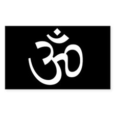Black Om Decal