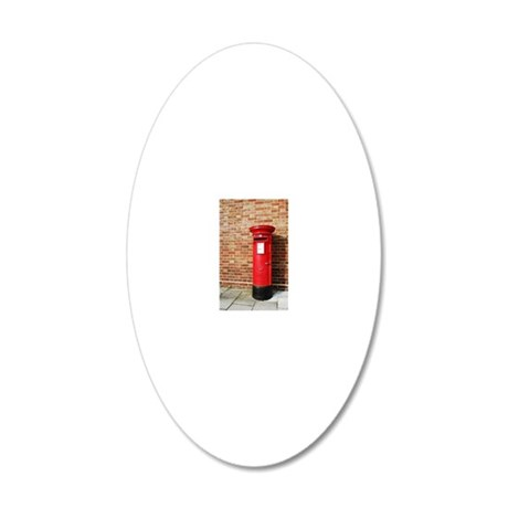British postbox 20x12 Oval Wall Decal