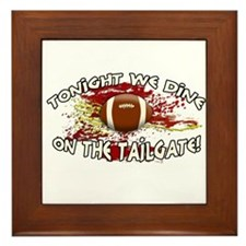 Tonight we dine on the tailgate! Framed Tile