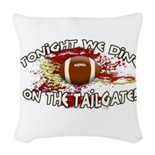 Tonight we dine on the tailgate! Woven Throw Pillo