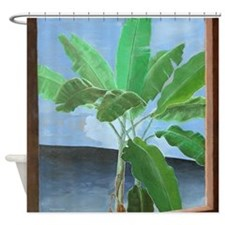 Banana Trees Tropical Shower Curtain.
