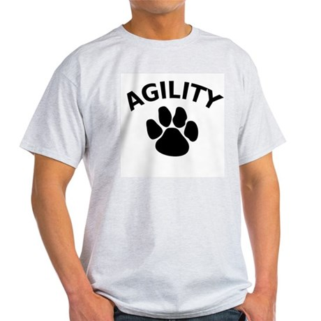 Dog Agility Paw Ash Grey T-Shirt